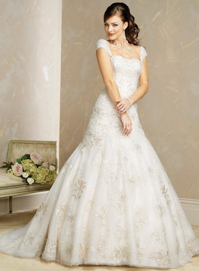 Cap Sleeve Wedding Dresses Kitty33