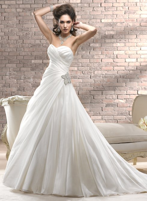 A line wedding dresses for your perfect wedding day kitty33 for Design my perfect wedding dress